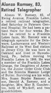 Obituary for Alonzo W. Ramsey (Aged 83) - Newspapers.com