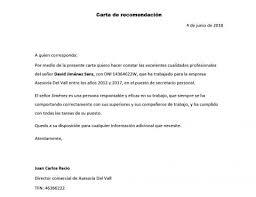 Carta De Recomendacion Ejemplo Magdalene Project Org