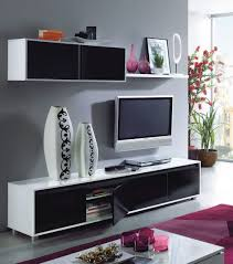 Living Room Tv Set Home Est Lena Black White Gloss Living Room Tv Stand Wall Cabinet Set