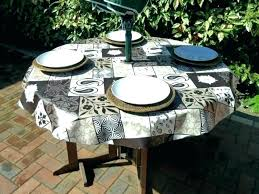 round fitted vinyl tablecloth fitted patio tablecloth good round patio tablecloth with umbrella hole and s