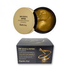 <b>FARM STAY 24K Gold &</b> Peptide Solution Ampoule Eye Patch
