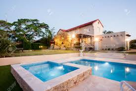 luxury home swimming pools. Exellent Luxury Luxury House Garden Decoration With A Swimming Pool Side Flashing  Lights In Front Of The On Home Swimming Pools