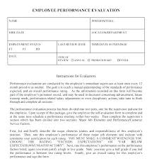 Words For Employee Evaluation Appraisal Template Word Performance Evaluation Template Word