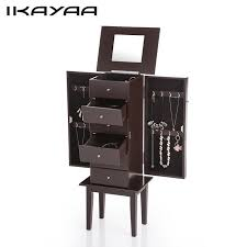 standing jewelry box.  Jewelry IKayaa DE Stock Antique Standing Jewelry Armoire Cabinet Fliptop Mirrored  Storage Box Organizer For