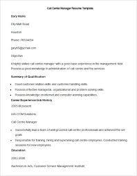 Best Ideas of Resume Call Center Sample With Job Summary