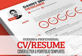 Modern Contemporary Resume Cover Letter Portfolio Modern Cv Resume Templates Cover Letter Portfolio Page Design