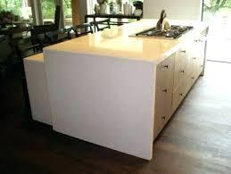 waterfall edge island white granite kitchen marble concrete countertops wa