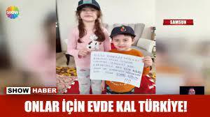 Onlar için evde kal Türkiye! - YouTube
