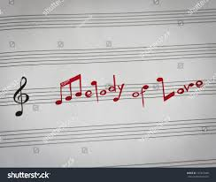 Melody Love Words Shape Music Notes Stock Photo Edit Now 127367408
