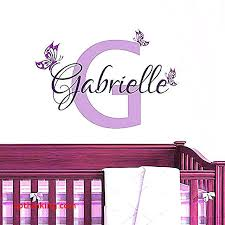 baby nursery baby name stickers for nursery personalized wall decals girl room decor