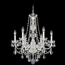 schonbek arlington 6 light crystal chandelier