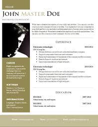 Creative Design Resume DOC Format 40 40 Free CV Template Unique ResumeDoc