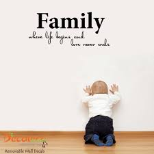 Family Life Quotes Extraordinary Family Where Life Begins Wall Quote