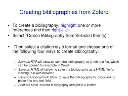 Managing References Using the free reference management tool Zotero ...