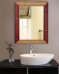 Bathroom wall mirrors Beveled Zahab Multicolour Fiber Frame Wall Mirror For Bathroom Size 15x1x21 Inches Decorative Amazonin Buy Zahab Multicolour Fiber Frame Wall Mirror For Bathroom Size