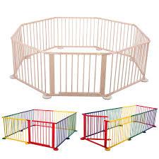 8 panel baby playpen foldable wooden frame kid play center yard indoor outdoor
