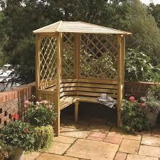 garden seating. Balmoral Wooden Arbour Garden Seating 2