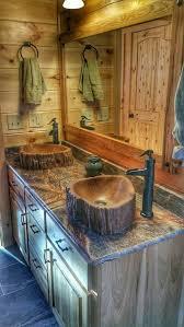 Bamboo Vanity Bathroom Fascinating Custom Concrete Wood Log Sink Tree Basin Vessel Vanity Etsy