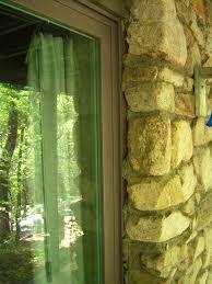sliding glass door with gaps in installation