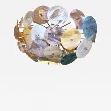 listings furniture lighting chandeliers and pendants contemporary italian yellow white aqua blue murano glass oval sputnik flushmount