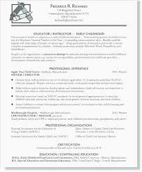 Example Resume For Teachers Classy Early Childhood Education Resume Template Early Childhood Resume