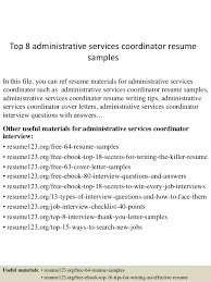 Top 40 Administrative Services Coordinator Resume Samples Interesting Administrative Coordinator Resume