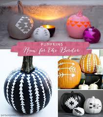 paint a pumpkin with southwest stencil patterns
