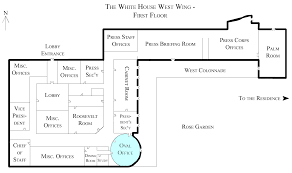 west wing oval office. File:White House West Wing - 1st Floor With The Oval Office Highlighted.png R