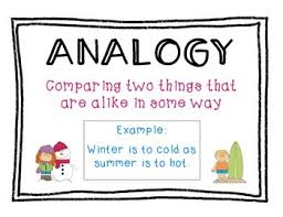 Types Of Analogies Chart Analogy Anchor Chart