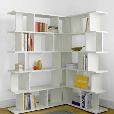 ... Bookcase, Cool White Corner Bookcase With Doors L Shaped Bookcase L  White Corner Bookcase With ...