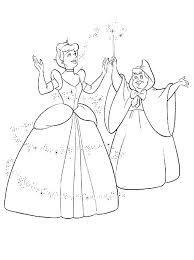Cinderella Color Pages Step Mother And Sisters Friends Coloring Page