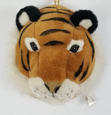 beverly hills teddy bear co wall mount plush tiger animal head safari jungle 10