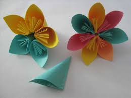 Folding Paper Flower Paper Craft For Kids With Folding Paper Flower Flowers S And Easy