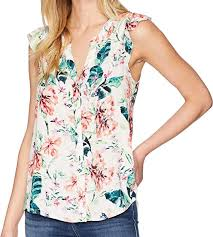 By The Way Clothing Size Chart Sanctuary Womens Ruffle Craft Shell Top At Amazon Womens