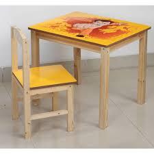 chhota bheem mayz kursi table and chair yellow kid s tables home18