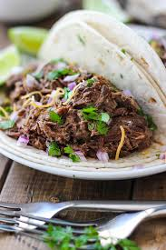 slow cooker shredded beef tacos the