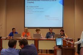 spanish summer at polytech Баранова на фото за столом вторая слева успешно провела оппонирование на защите диссертации