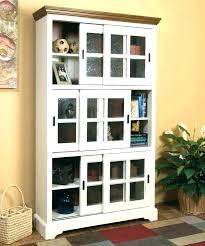 white bookcase with glass doors door cabinet large size u white bookcase with glass doors