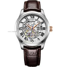 "rotary watches men s ladies rotary watch shop comâ""¢ mens rotary vintage mecanique skeleton exclusive automatic watch gs05032 21"