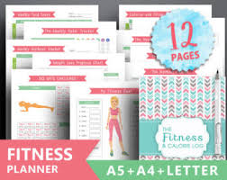 workout and food journal food journal etsy