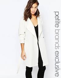 women s fashion outerwear trenchcoats white trenchcoats noisy may petite trench coat