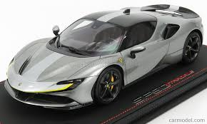 Cars were equipped with engines of 3990 cc (243 cui) displacement, delivering 735 kw (1000 ps, 986 hp) of power. Bbr Models P18180ra Scale 1 18 Ferrari Sf90 Stradale Hybrid 1000hp Race Version 2019 Iron Grey Met