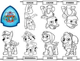 Coloring Pages Fabulous Paw Patrol Coloring Pages Skye Free