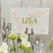 table name cards. classic world countries wedding table name cards l