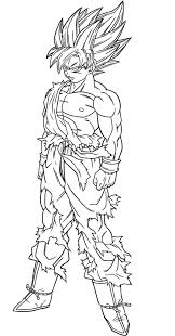 dragon ball z coloring pages free 3