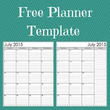 Customizable Calendar 2015 Free Customizable Planner Template