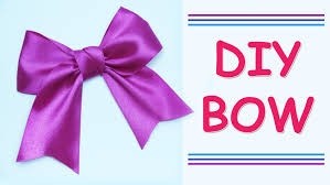 DIY Make Simple Easy Bow of satin ribbons | how to make a ribbon bow |  Julia DIY beauty and easy