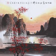 famous watercolor paintings artist zhangquanzong oriental asian painting landscape painting original chinese fengs painting china