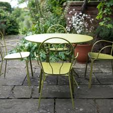 garden table and chairs 4 seat furniture set green plastic garden table and chairs argos