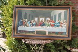 very large last supper painting oil on canvas after leonardo da vinci